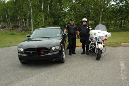 officers with car & bike